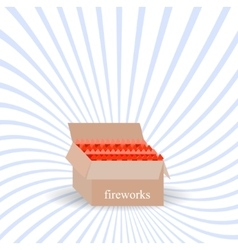 A box of fireworks vector