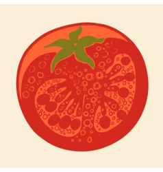 Abstract tomato drawing vector