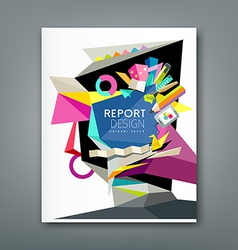 Annual report geometric abstract artist vector image vector image