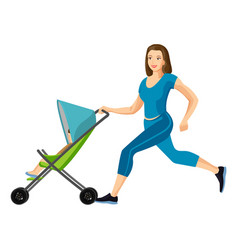 Buggy fit ultimate outdoor fitness class for mums vector