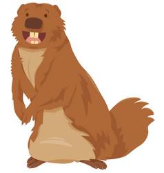 Cartoon gopher animal character vector