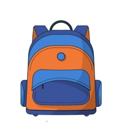 Colorful school bag vector image