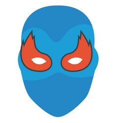 Colorful silhouette of festive mask with eyes in vector