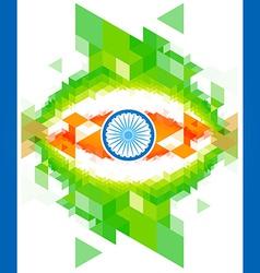Creative indian flag design vector