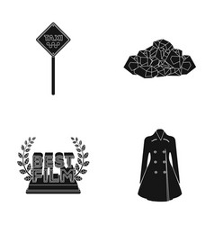 Fashion maintenance and or web icon in black vector
