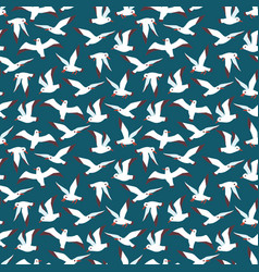 flying atlantic seabird seamless pattern vector image