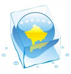 frozen button flag of Kosovo vector image vector image