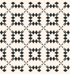 Geometric seamless pattern with floral shapes vector