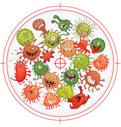 Germs and bacteria at gunpoint vector