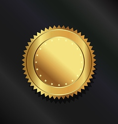 Gold seal logo vector image