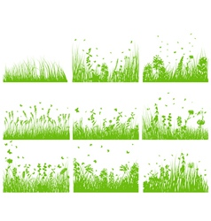grass set nine vector image vector image