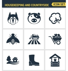 Icons set premium quality of housekeeping and vector