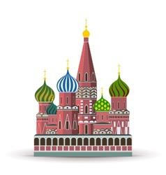 Kremlin St Basil Cathedral vector image vector image