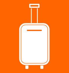 Luggage bag white icon vector