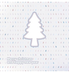 Merry Christmas festive tree background EPS8 vector image vector image