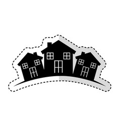 Neighborhood silhouette isolated icon vector