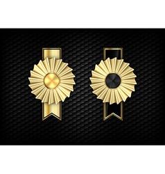 rosette gold vector image