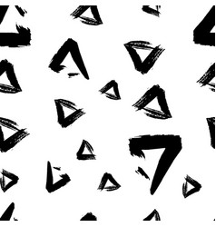 seamless pattern grunge geometry vector image vector image