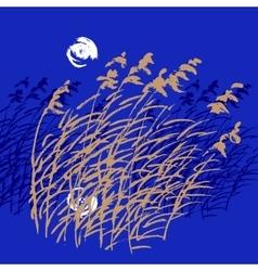 Sketch of bulrush vector image