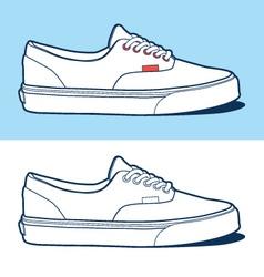 Sport shoe vector