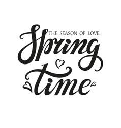 Spring time letteringseason of love vector