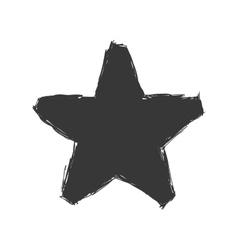 Star sketch icon shape design graphic vector