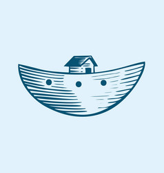 symbol of noahs ark vector image