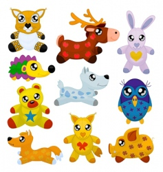 toy animals vector image vector image