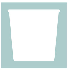 trash bucket the white color icon vector image