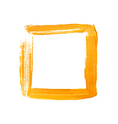 yellow painted square frame vector image