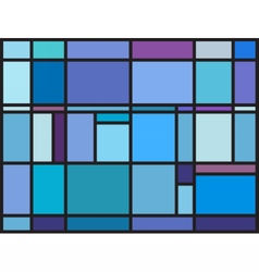 Multicolored stained glass window vector