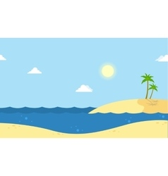 Seaside beautiful scenery cartoon vector