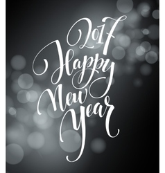Marry Christmas and Happy New Year 2017 lettering vector image