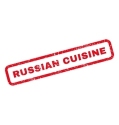 Russian cuisine rubber stamp vector