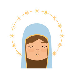 Virgin mary icon vector