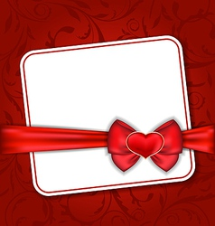 Beautiful card for valentine day with red heart vector