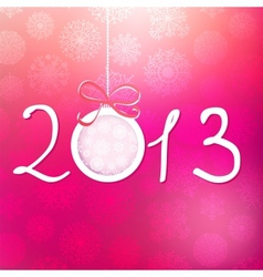 2013 Happy New Year background EPS8 vector image vector image