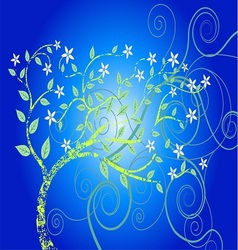 Blue forest tree eps vector