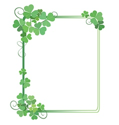 Decorative green frame with shamrock vector