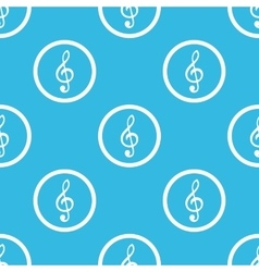 Music sign blue pattern vector