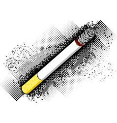cigarette on the dark background vector image
