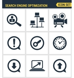 Icons set premium quality of search engine vector
