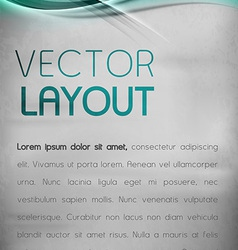 Abstract layout vector image vector image
