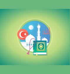 arabian muslim culture and language concept design vector image