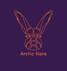 Arctic Hare Icon vector image vector image