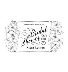 Bridal shower invitation card vector