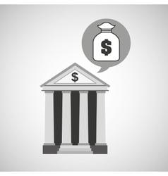 building bank economy bag money vector image