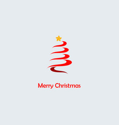 christmas tree isolated on vector image vector image