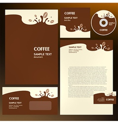 coffee cafe corporate identity vector image