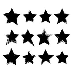 collection of hand drawn stars vector image vector image